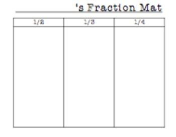 1st Grade Fraction Sorting Mat