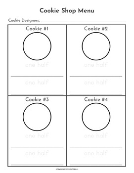 1st Grade Fractions Halves and Fourths Packet