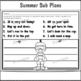 Sub Plans 1st Grade Summer