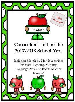 1st Grade Full Year Cirriculum Package