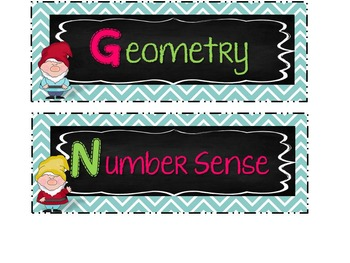 1st Grade GNOME Math Wall