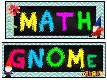 1st Grade GNOME Math Wall
