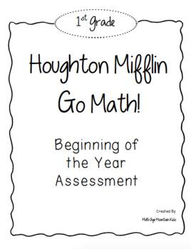 1st Grade GO! Math Beginning of the Year Assessment