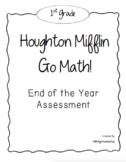 1st Grade GO! Math End of Year Assessment