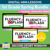 1st Grade Spring Reading Fluency in a Flash Digital Mini Lesson Bundle (6 wks)