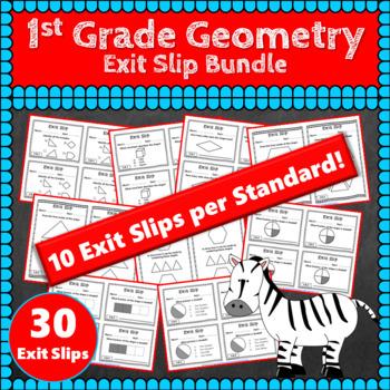 1st Grade Geometry Exit Slips: Geometry Exit Slips 1st Grade