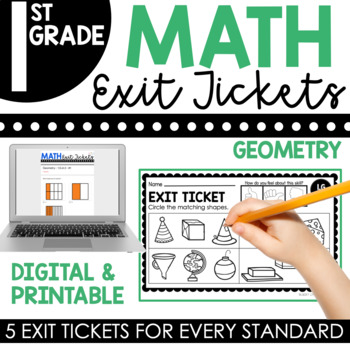 1st Grade Geometry Exit Tickets