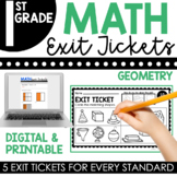 1st Grade Geometry Exit Tickets (Exit Slips)