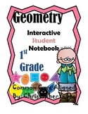 1st Grade Geometry Interactive Student Notebook or Math Journal