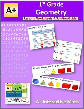 1st Grade Geometry Lessons, Worksheets, Solution Manuals