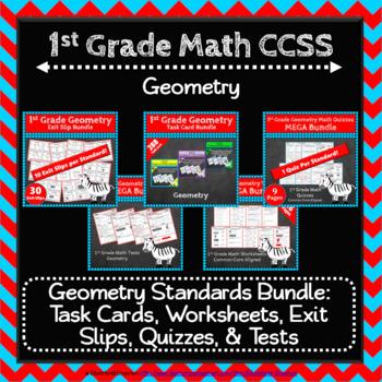 1st Grade Geometry Math Bundle: Geometry Curriculum, 1st Grade Math MEGA Bundle