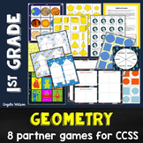 Geometry 1st Grade: 8 math games for CCSS