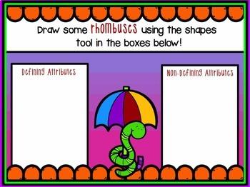 1st Grade Geometry Attributes Promethean ActivInspire Flipchart Lesson