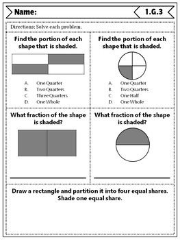 1st Grade Geometry Quizzes: 1st Grade Math Quizzes, Geometry