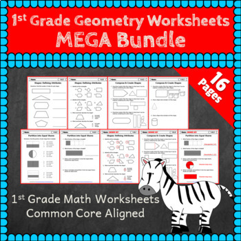1st Grade Geometry Worksheets: 1st Grade Math Worksheets, Geometry