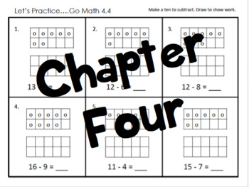 1st Grade Go Math Ch. 1- 12 Review Sheets and Games BUNDLE