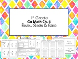 1st Grade Go Math Ch. 4 Review Sheets and Game