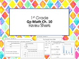 1st Grade Go Math Ch. 10 Review Sheets