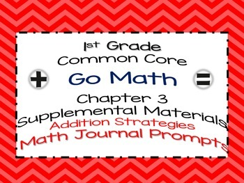 1st Grade Go Math Chapter 3 Math Journal Prompts Common Core