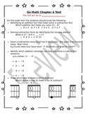 1st Grade Go Math Chapter 4 Study Sheet for Parents