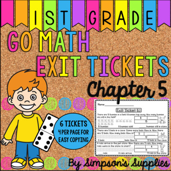 1st Grade Go Math Chapter 5 Exit Tickets