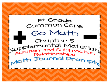 1st Grade Go Math Chapter 5 Math Journal Prompts Common Core