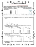 1st Grade Go Math Chapter 8 Study Sheet for Parents