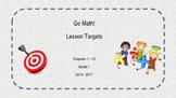 1st Grade Go! Math Lesson Objectives