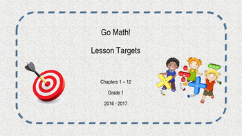 1st Grade Go! Math Lesson Objectives