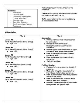 1st Grade Go Math Unit 4