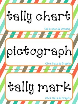 1st Grade Go Math Vocabulary Word Wall Cards