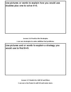 Go Math Chapter 3 Math Journal 1st Grade