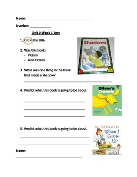 1st Grade Good Habits Great Readers weekly tests