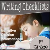1st Grade Opinion, Narrative, & Informational Writing Rubric Bundle