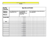 1st Grade Gradebook with Common Core Standards
