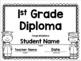 1st Grade Graduation Diploma / Certificate / Invitation & Worksheets