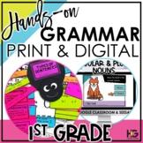 1st Grade Grammar Bundle Digital and Print   Hands-on Reading