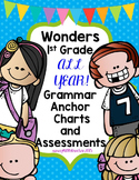 1st Grade Grammar Charts and Assessments for the Entire Year