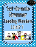 1st Grade Grammar Unit 1 Reading Wonders Practice & Test