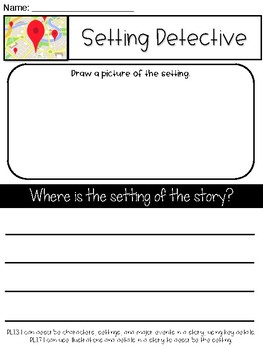 1st Grade Graphic Organizers (Setting, Problem/Solution, Character Traits, BME)