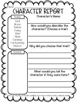 1st grade graphic organizers setting problem solution character