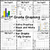 1st Grade Graphs - Bar and Tally Graphs - How many more? How Many?