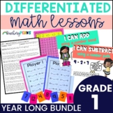 1st Grade Guided Math Lesson Plans Year Long Bundle