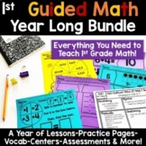 1st Grade Guided Math -The Bundle