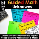 1st Grade Guided Math -Unit 2 Unknowns