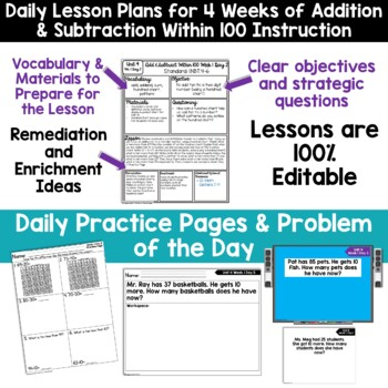 1st Grade Guided Math -Unit 4 Addition and Subtraction Within 100