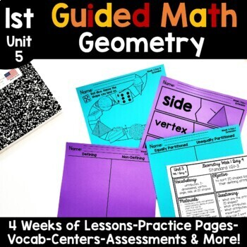 1st Grade Guided Math -Unit 5 Geometry
