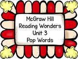 1st Grade HFW Pop Words ~ Reading Wonders Unit 3