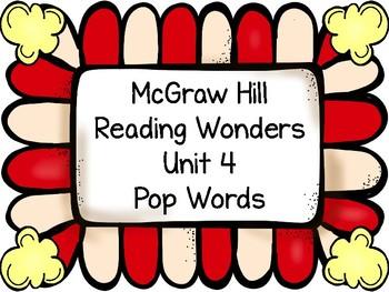 1st Grade HFW Pop Words ~ Reading Wonders Unit 4