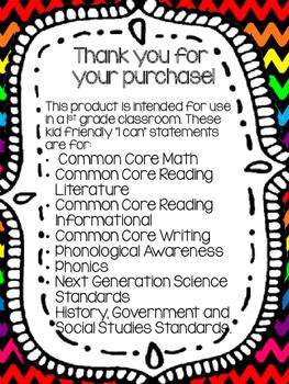 1st Grade HGSS Objectives